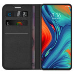 Leather Wallet Case & Card Holder Pouch for Xiaomi Mi Mix 3 5G - Black